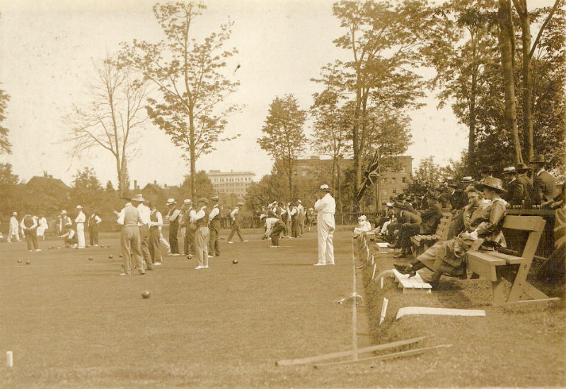 Stanley Park Lawn Bowling Club 1919. Photo courtesy of the club.