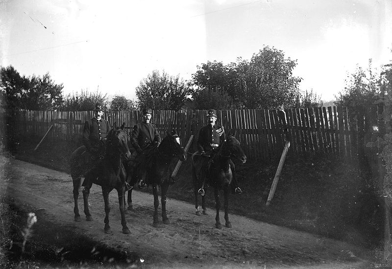 Mounted police in Stanley Park circa 1900