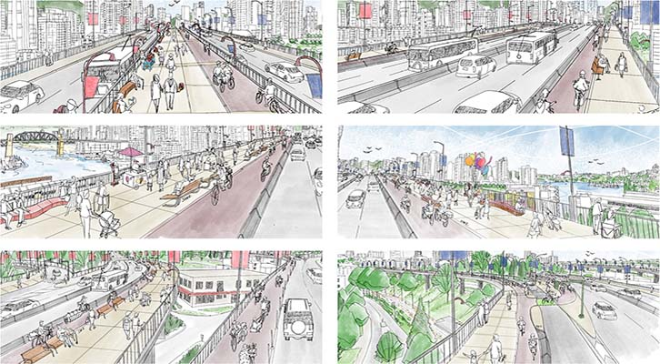 Renderings of Granville Street Bridge
