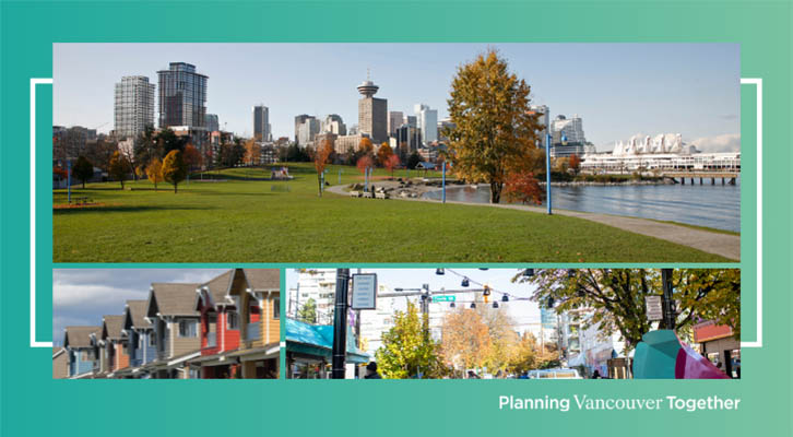 Planning Vancouver Together - image of homes, streets, parks