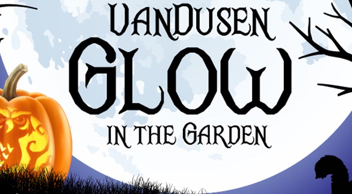 VanDusen Glow  - A moon and pumpkin