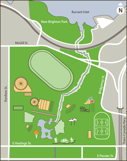 Map Of Master Plan Park Areas For Development City Of