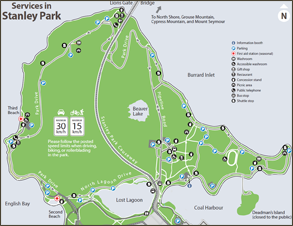 Download a printable map of Stanley Park