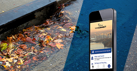 Fall flooding can be reported via the VanConnect app