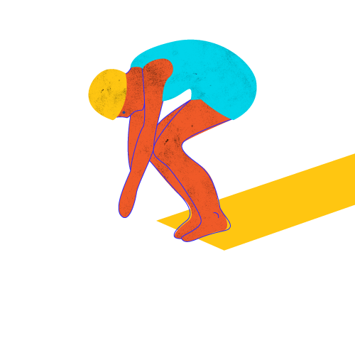 Illustration of person diving off a board