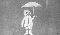 Child holding umbrella - by City of White Rock, Jeff Kulak