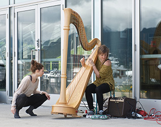 Julie Chapple and Elisa Thorn at Coal Harbour Community Centre