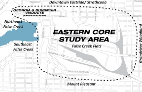 eastern core study area map