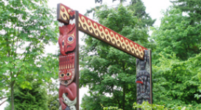 """People Amongst the People"" Coast Salish Gateways by Susan Point"