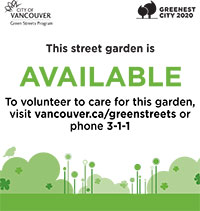A green Green Streets sign means a garden is available to tend