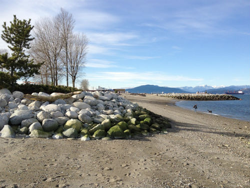 View of the restored Jericho Beach
