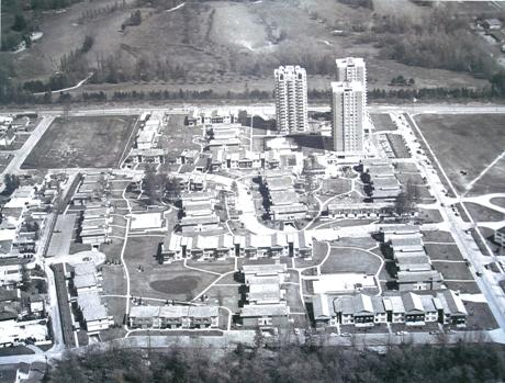 Historical aerial shot of Langara Gardens