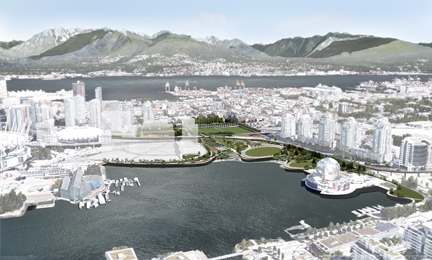 Rendering of North East False Creek