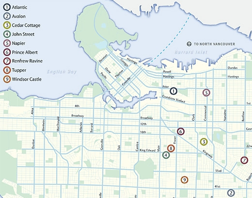 Vancouver Neighbourhood Map Community greenways in your neighbourhood | City of Vancouver Vancouver Neighbourhood Map