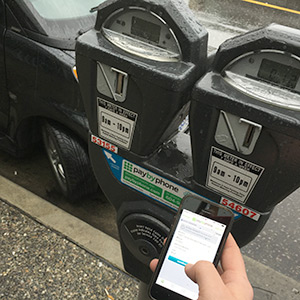 Parking meter and mobile app