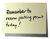 Remember to renew your parking permit