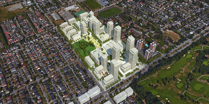 Built form of the Pearson Dogwood site rezoning proposal