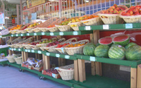 Retailers require a produce and flower display permit for outdoor displays.