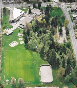 Aeriel view of Renfrew Community Park