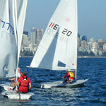 Dinghy sailing in English Bay