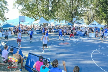 People playing basketball at Kitsilano Festival