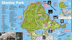 For a more detailed picture of Stanley Park, click on the image on the left to download the official map and guide to Stanley Park.