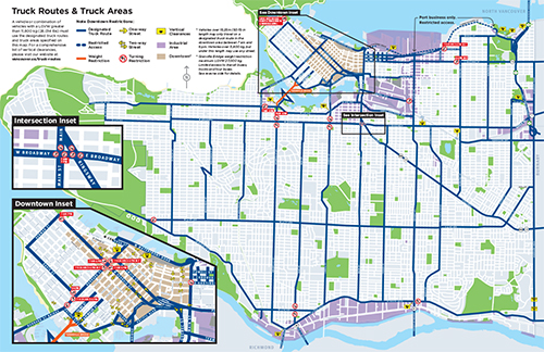 Truck Route Maps And Regulations City Of Vancouver - Truck route us map