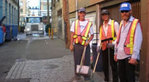 A Clean Street micro-cleaning team at work in the Downtown East Side.