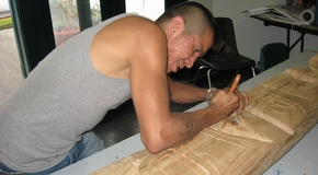 Great Beginnings supports employment and training opportunities, such as commissioned totem carving