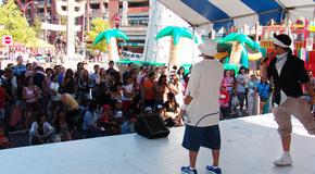 B-boy competition at Streetfest during the Chinatown Festival