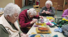 The Arts and Health Project is a workshop series where seniors work with community artists.
