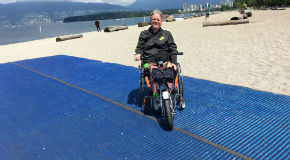 Mobi-mat at Kits Beach