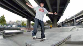 Downtown skateboard plaza in Vancouver