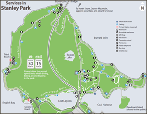 Stanley Park Map Stanley Park printable maps | City of Vancouver Stanley Park Map