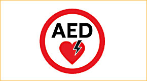 When you see this symbol, an AED is nearby.