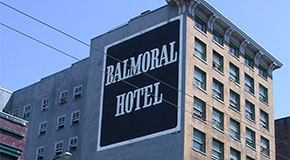 Balmoral Hotel sideview of building