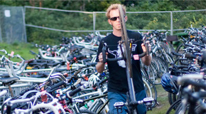 Friendly bike valet service provides free bike parking at events