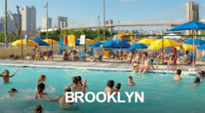 Brooklyn Bridge pop-up pool