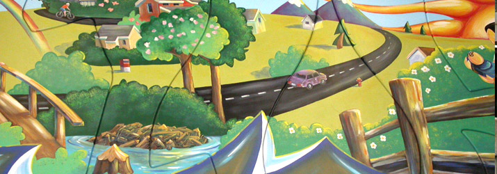 Champlain Heights Community Centre mural