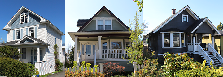 Three character homes in Vancouver