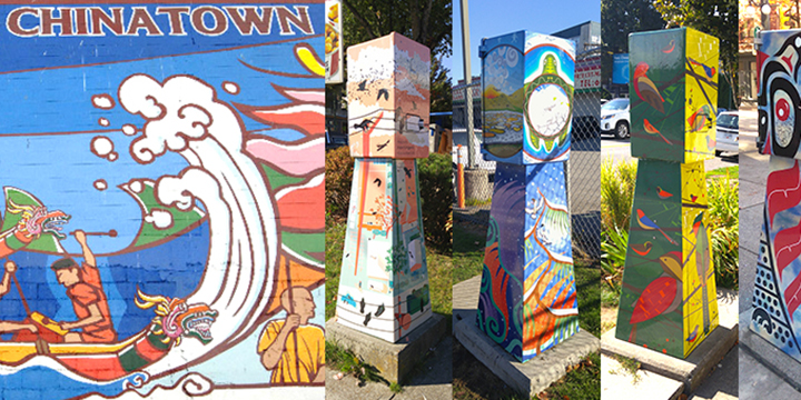 utility boxes with art on them