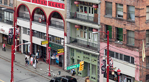 Chinese society buildings in Chinatown on Pender Street