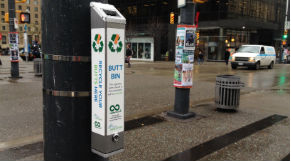 Cigarette butt receptacle in Vancouver
