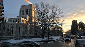 Snow on City Hall