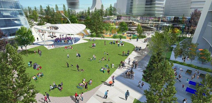 Rendering of Oakridge Centre Civic Centre Park
