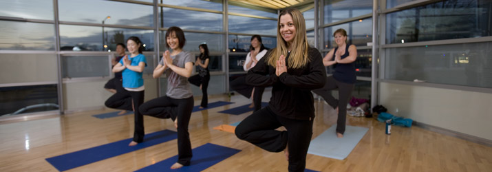 Yoga class at Sunset Community Centre