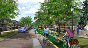 Illustration of proposed Comox Helmcken Greenway