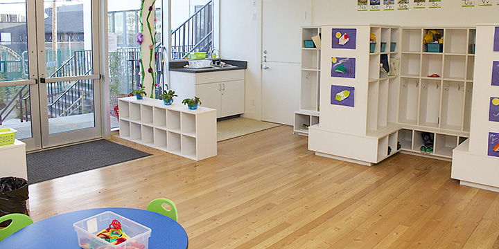 Interior of a childcare centre