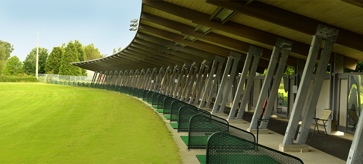 Covered driving range