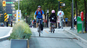 Separated bike lanes help to make cyclists feel safe